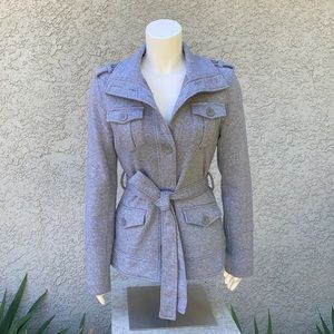 Yoki Vintage Gray Pea Coat Outerwear Jacket 🧥